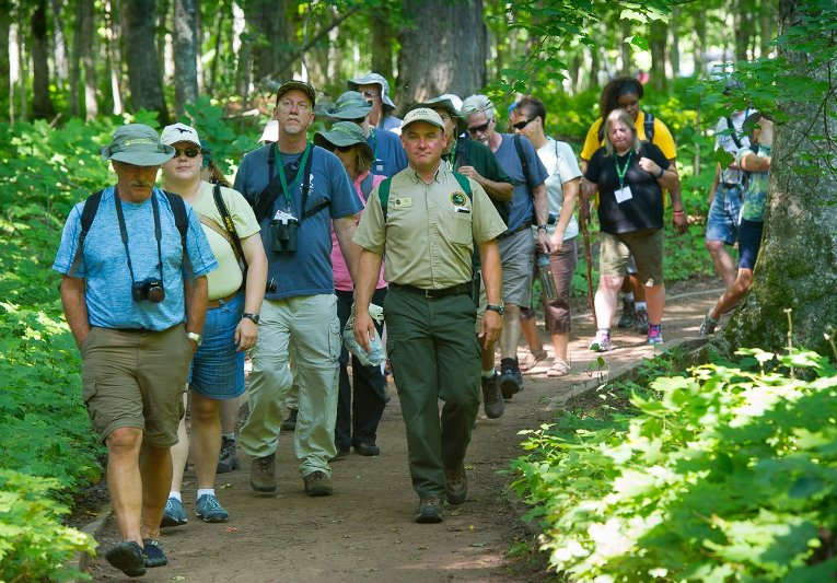 Teachers and organizers take a walk in the wilds of the Upper Peninsula.