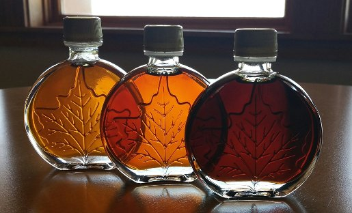 Three shades of syrup