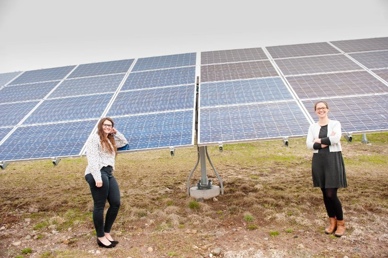 PhD student Emily Prehoda worked with sociologist Chelsea Schelly to assess the technical and economic viability of military microgrids run on solar power.