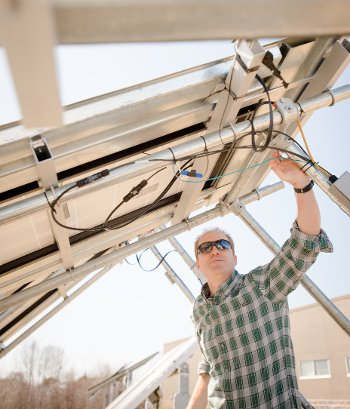 Engineer Joshua Pearce says solar, because of its decreasing costs, geographic accessibility and versatility, makes the most sense for powering microgrids.