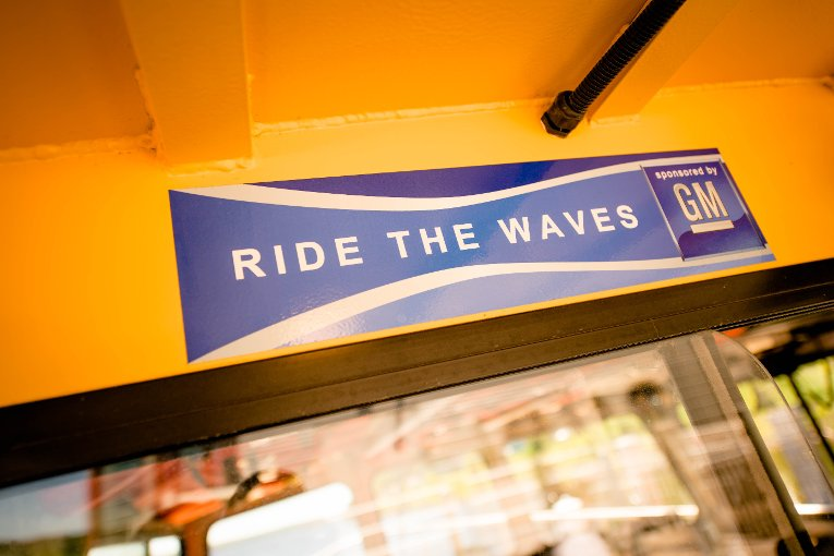 The Ride the Waves program is sponsored by GM.