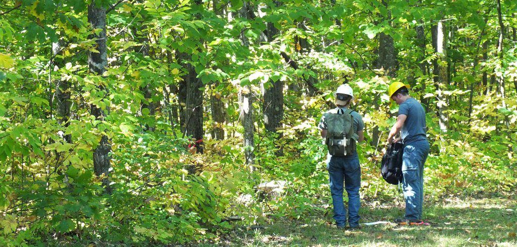 Woodchuck Forestry Students on Michigan Tech Trails