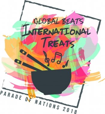 parade of nations logo with a bowl drum and chopsticks