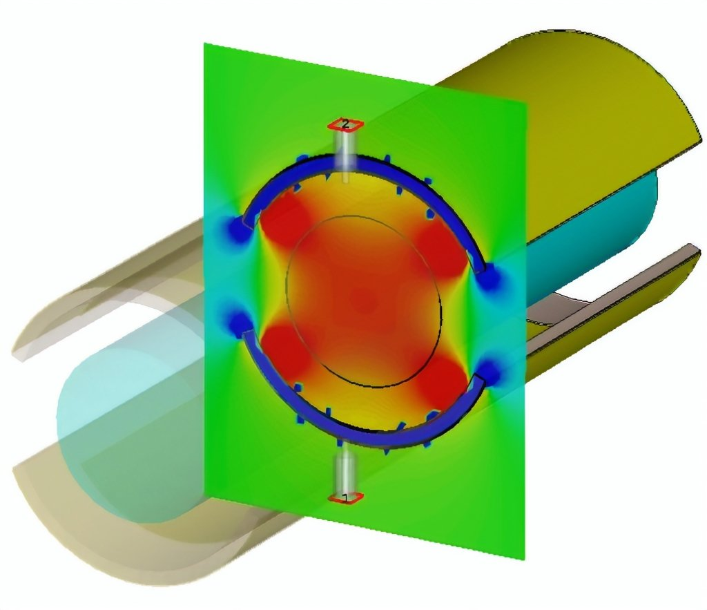 heat map of cylindrical probe