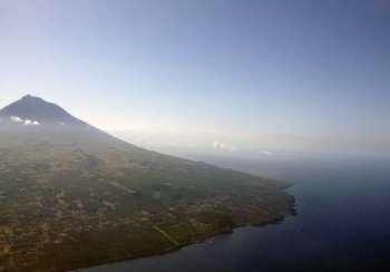 Pico Mountain next to the Atlantic Ocean.
