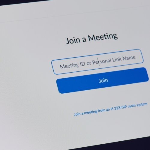 Zoom join a meeting screen on a laptop computer