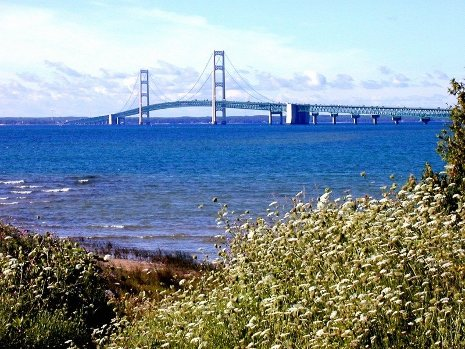 Mackinac Bridge, photo courtesy of the Mackinac Bridge Authority