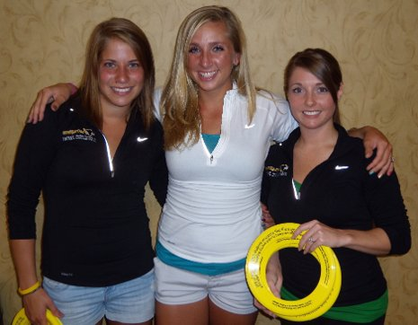 From left, Students Christina Mishica and Kristen Monahan, with Michelle Bangen