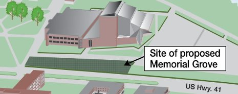 Proposed Memorial Grove at Michigan Tech