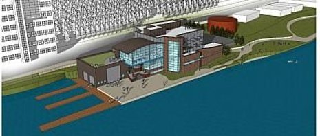 Great Lakes Research Center architect's rendering