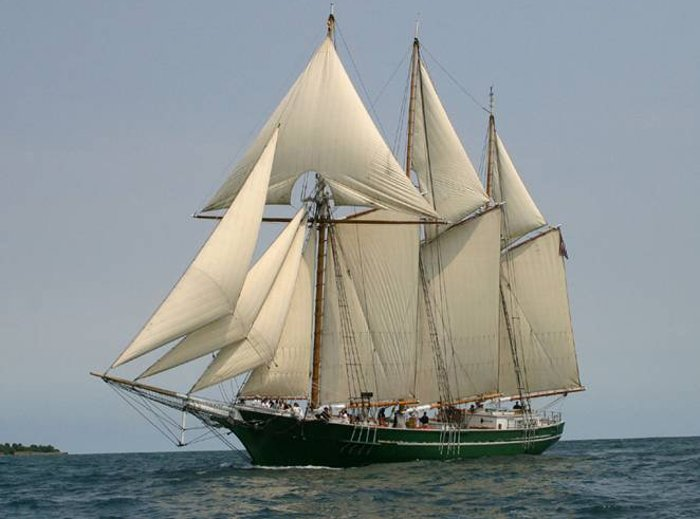 The Denis Sullivan, a tall sailing ship, will be home to a Michigan Tech Youth Programs biology cruise on the Great Lakes next week.   Photo courtesy Discovery World