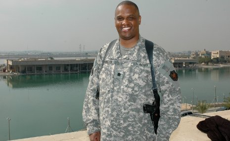 Lt. Col. Otha Thornton serving in Iraq