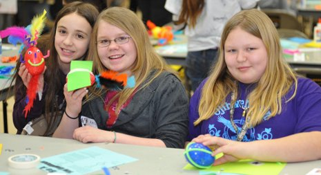 Middle school girls discover that science is fun