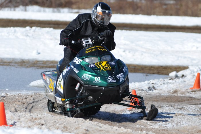 Clarkson University's zero emissions entry in the 2010 SAE Clean Snowmobile Challenge