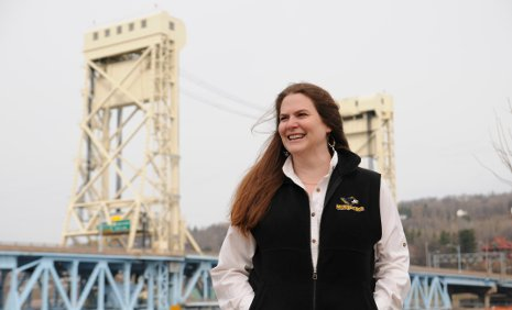 Tess Ahlborn and the Portage Lake Lift Bridge