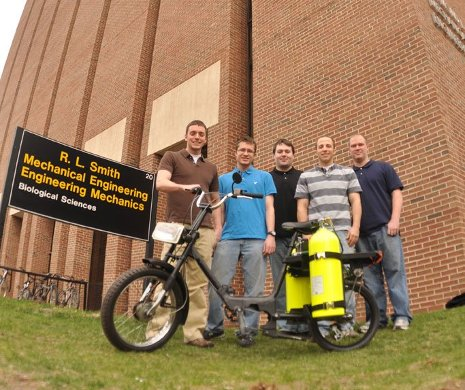 Moped Senior Design team members Andrew Bomstad, Ben Vindedahl, Adam Bieber, Jared Recker and Josh Schmidt