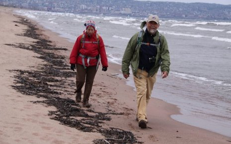 Mike Link and Kate Crowley are hiking the entire Lake Superior shoreline.