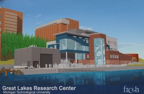 Artist's rendering of the Great Lakes Research Center