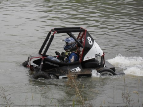 A quarter-mile water crossing during the Endurance Race