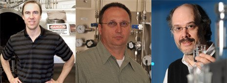 Brad King (left), Jeff Naber (center) and Jeff Allen have been named to endowed associate professorships.