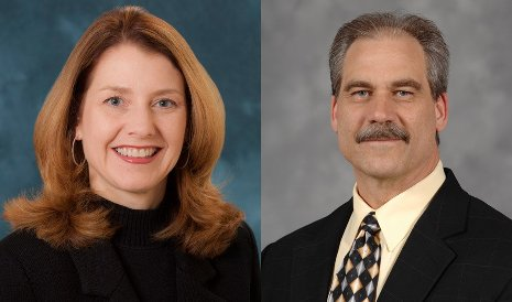 New Board of Control members Julie Fream and Terry Woychowski