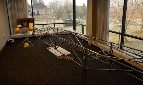 Michigan Tech's entry in the 2011 National Student Steel Bridge Competition, which placed second among 48 competitors
