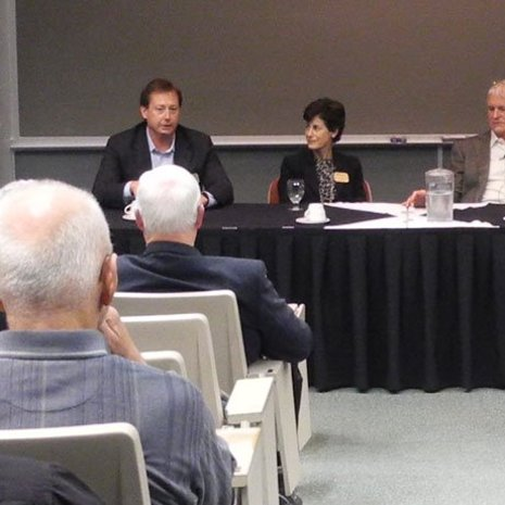 Panelists (left to right): Paul Fulton, Martha Sullivan, Dave House, and moderator Dave Reed.
