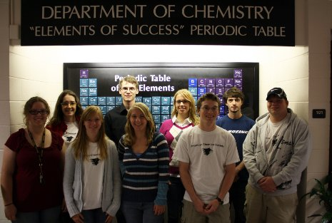 Members of Michigan Tech's student chapter of the American Chemical Society, 2011