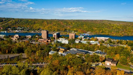 Aerial view of Michigan Tech.