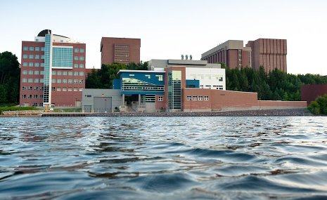 Michigan Tech's Great Lakes Research Center, on the University Waterfront