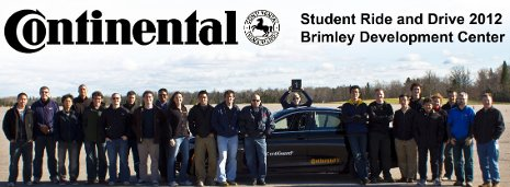 Advanced Motorsports Enterprise students join other engineering students from across the country to test-drive the some of the next generation of automotive technologies at Continental Tire's Brimley Development Center.