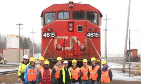 CN hosted Tech's Railroad Engineering & Activities Club students at Proctor Yard in Duluth, Minn.