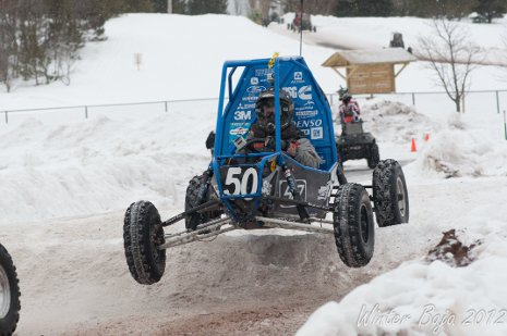 Michigan Tech's Blizzard Baja during the 2012 Winter Baja in Lake Linden