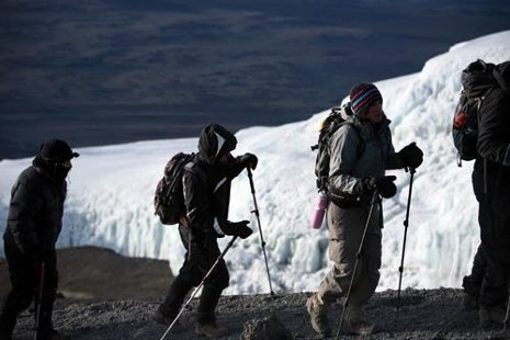 Teachers trek up Mt. Kilimanjaro.
