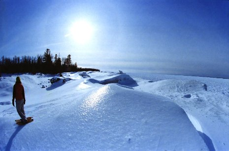 A winter view from Seven Mile Point
