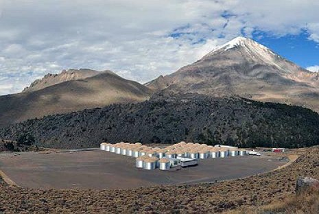 The HAWC Gamma-Ray Observatory, located in the mountains of Mexico, will detect some of the highest-energy gamma rays in the universe. Los Alamos National Lab photo