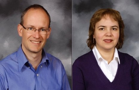 Winners of Michigan Tech's 2013 Distinguished Teaching Awards are Tom Werner and Nilufer Onder.