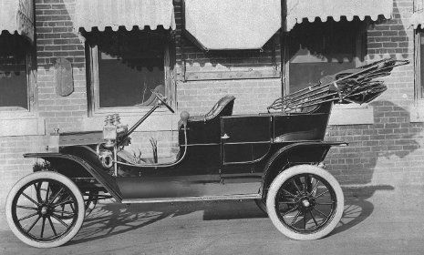 A 1908 Model T Ford.  Image provided by the Ford Motor Company Archives
