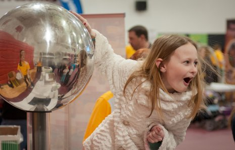 Touching a Van de Graaff generator literally makes your hair stand on end.