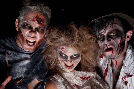 Three zombies like those to be celebrated and analyzed at the symposium