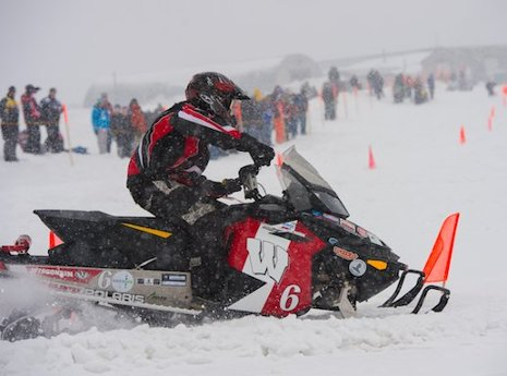 The University of Wisconsin-Madison's winning entry in the 2013 SAE Clean Snowmobile Challenge.