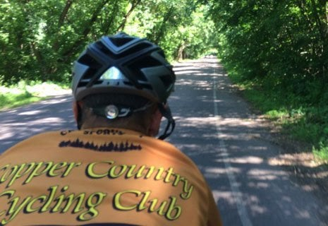 Alumni are representing the Copper Country on their bike ride across the US.