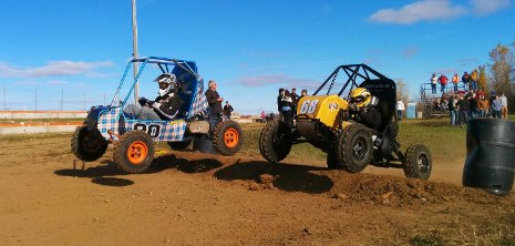 Michigan Tech's GM Foundation-supported Baja team competing in Backwoods Baja in Wisconsin in October.