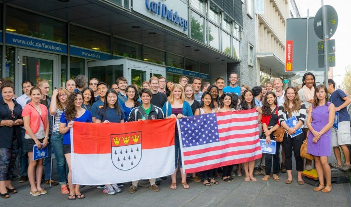 A group of CBYX scholarship winners in Germany.