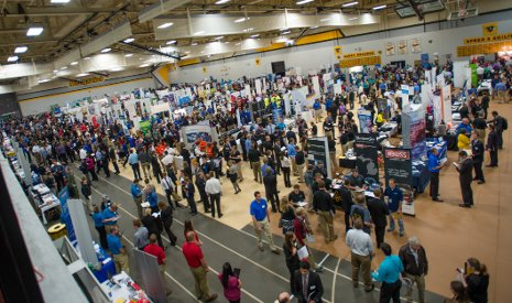 Employers and students packed the SDC at Tech's largest Career Fair ever.