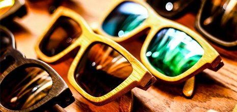 1st Element sustainable bamboo-framed sunglasses.