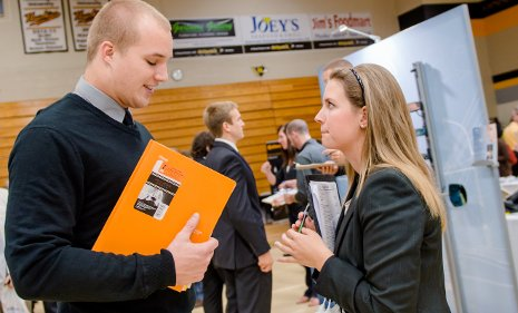 Employers find well-qualified students at Michigan Tech's semi-annual Career Fairs.