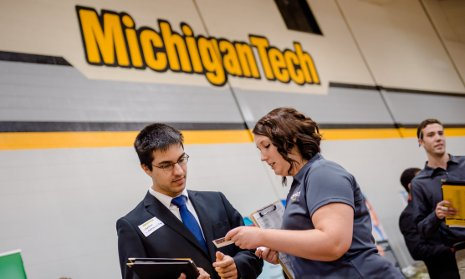 The value of a Michigan Tech education rises because students get good jobs after graduation.