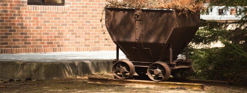 Rail car on campus.