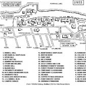 Map of Michigan Tech Campus 1955